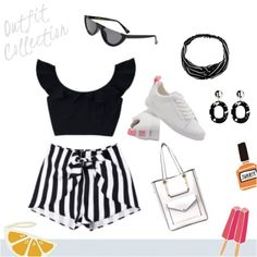 Black and white stripe spring and summer outfit. #girlboss #summertrip #shoeslover #summerstyle  #springstyle #style #outfits #outfitoftheday #outfitideas #zaful