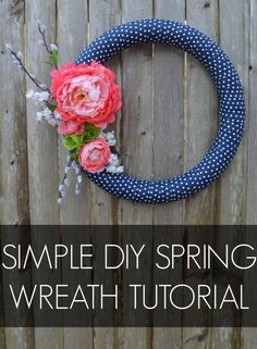 Simple DIY Spring Wreath Tutorial (scheduled via http://www.tailwindapp.com?utm_source=pinterest&utm_medium=twpin&utm_content=post50913386&utm_campaign=scheduler_attribution) (Diy Wreath)