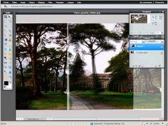 Tutoriel Pixlr 2011: Fusionner deux images pour réaliser un panorama.