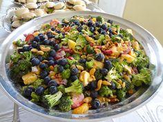 Broccoli Cashew Salad with Berries