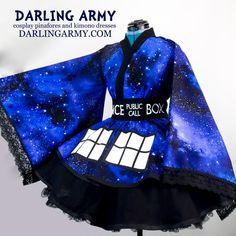 TARDIS Doctor Who Galaxy Cosplay Kimono Dress Wa Lolita Accessory | Darling Army