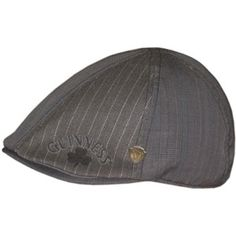 A very nice gray Guinness flat cap with a hint of plaid in the front panel 14602d7c849