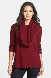 Nordstrom Collection Cowl Collar Cashmere Sweater