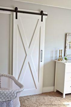 Barn Door - handmade, hanging kit, Home Depot, handle, Lowes