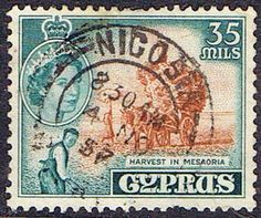 Stamps Cyprus 1955 New Currency SG 181 Fine Used Scott 176  Other Cyprus Stamps HERE