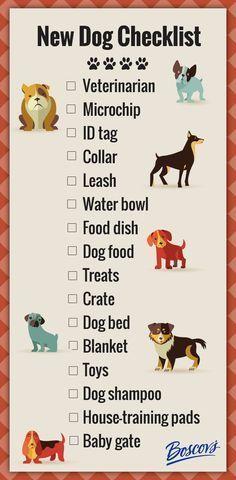 New Dog Checklist. #