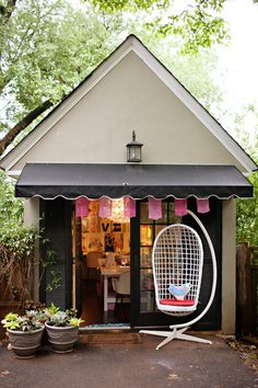 The shed was once Annabel's Little Pincushion Studio, through which she teaches girls how to sew.