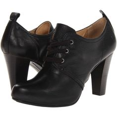 Frye Marissa Oxford (16.420 RUB) ❤ liked on Polyvore featuring shoes, boots, heels, oxfords, black, black soft vintage leather, oxford shoes, black shoes, black dressy shoes and black heeled shoes