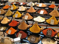 Spices at the Galeries Lafayette in Paris. Organizing, Spices, Paris, Drink, Texture, Inspiration, Travel, Color, Surface Finish