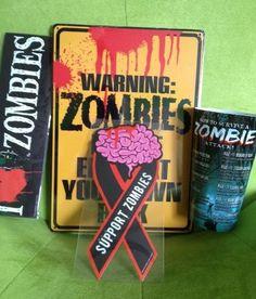 Jen's Mart Zombie Fanatic Fanclub Kit Great gift for all Zombie Lovers   www.Jens-Mart.com