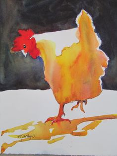 Hen 3 by PaintingsbyMarilyn on Etsy, $30.00