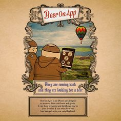 Beer On App by Andrzej Poniatowski, via Behance