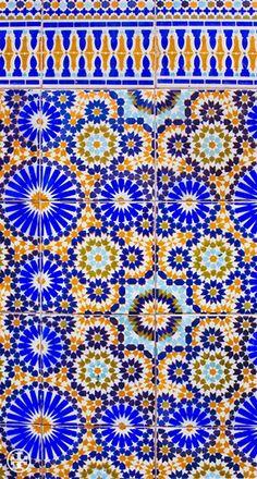 Blue & Mustard in Marrakech