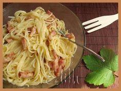 SPAGHETTI CARBONARA - Edith's Kitchen Edith's Kitchen, Romanian Food, Romanian Recipes, Pasta Carbonara, Spaghetti, Ethnic Recipes, Noodle