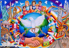 """Peace Around the World"" 2007-2008 Grand Prize Winner by 13-year-old Ming Yang Soong of Malaysia"