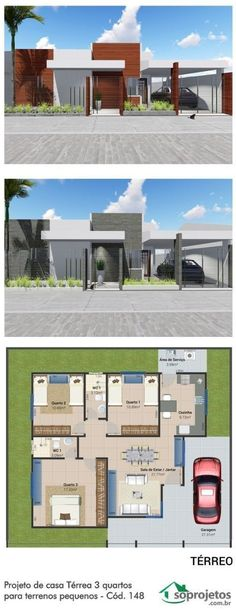 Good Home Project Dream House Plans, Modern House Plans, Small House Plans, Bungalow House Design, Modern House Design, Future House, My House, Circle House, House Construction Plan