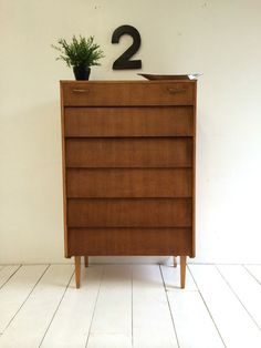 VINTAGE CHEST OF DRAWERS 1960s DANISH INFLUENCE RETRO