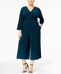 6312fc7c2e35 Got it in green and black. SALE Wrap Jumpsuit
