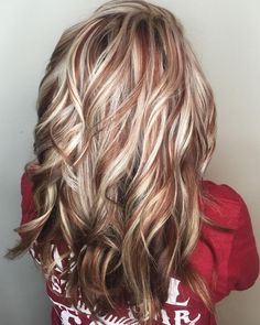 Hair Color And Cut, Cool Hair Color, Hair Color Highlights, Auburn Highlights, Blonde With Red Highlights, Fall Highlights, Low Lights And Highlights, Red Low Lights, Hair Highlights And Lowlights