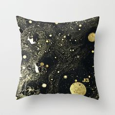 Cosmic Gold pillow by j3productions on Society6