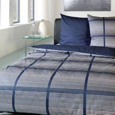 Blau Im Schlafzimmer   Schöne Bettwäsche BUGATTI Renforcé Bettwäsche  Barbara Blau/weiß 2X 80X80/