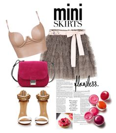 """""""Cute Mini Skirts"""" by and-thats-me ❤ liked on Polyvore featuring RED Valentino, Proenza Schouler, Clinique and MINISKIRT"""