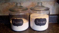Flour and Sugar Jars - Crate & Barrel