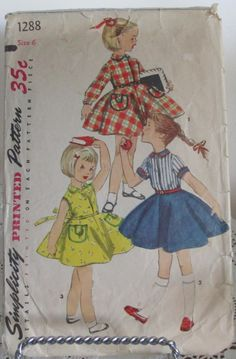 Vintage Simplicity Sewing Pattern 1288 by heirloomsofyesterday