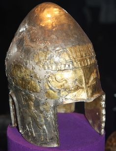 The Helmet of Agighiol (Tulcea County) is a Geto-Dacian silver helmet dating from the century BC, housed in the National Museum of Romanian History, Bucharest. Historical Artifacts, Ancient Artifacts, Barbarian Woman, European Tribes, Ancient Armor, Battle Dress, Greek Warrior, Medieval World, Arm Armor