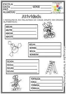 Atividades Escolares: Ordem alfabética Resource Room, Notebook, Bullet Journal, World Literacy Day, Classroom, Paintings, Manualidades, Storage Room, The Notebook