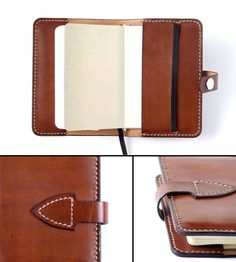 Leather notebook cover Moleskine cover Diary cover by FlintLeather