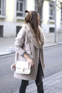 Black Jeans, Pink Coat, Celine Bag http://FashionCognoscente.blogspot.com