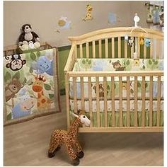 Crown Crafts NoJo Jungle Play 4 Piece Baby Crib Bedding Set By Nojo