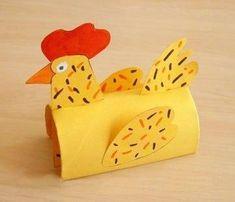 Курочка из втулки от туалетной бумаги Easter Crafts For Kids, Toddler Crafts, Crafts To Do, Diy For Kids, Arts And Crafts, Cardboard Tube Crafts, Paper Towel Crafts, Toilet Paper Roll Crafts, Toilet Roll Art