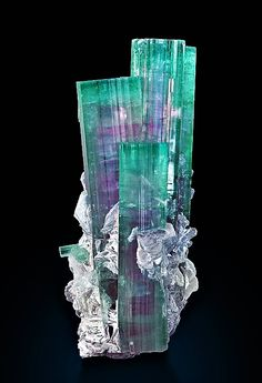 Tourmaline Locality: Mawi, Laghman Province, Nuristan Province, Afghanistan Size: 6 x x cm Photo Copyright © Anton Watzl Minerals Minerals And Gemstones, Rocks And Minerals, Natural Gemstones, Cool Rocks, Beautiful Rocks, Mineral Stone, Rocks And Gems, Stones And Crystals, Gem Stones