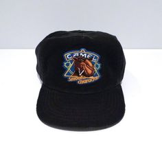 c67a536399364 Joe Camel Trucker Hat 1980s 1990s Vintage Old Joe Cigarette Mascot  Embroidered Cap   Black Corduroy