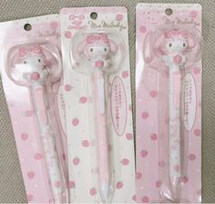 Hello Kitty My Melody, Cute Stationary, Rose Pastel, Cute Pens, Cute School Supplies, Office Supplies, Kawaii Room, Kawaii Stationery, Pink Aesthetic