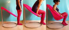 The Pink Sink Chair by AJJI. Designer: Lekha Washington — A chair that looks like there's no way you can sit on it . . . until you do. Other colors available.