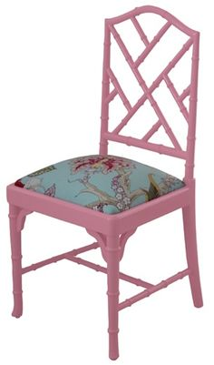 pink chippendale chair