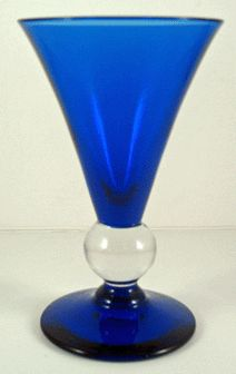 Bryce cobalt blue #Depression #Glass goblet - 1920s