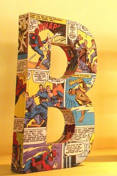 Comic Book Covered Letters