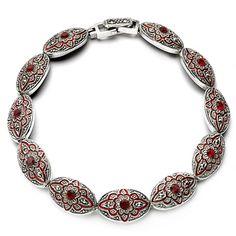 Srebrna bransoletka Kryształ górski oraz Markazyty - Biżuteria srebrna dla każdego tania w sklepie internetowym Silvea