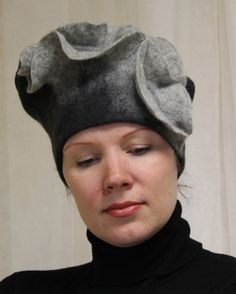 """Felted hat """"For a special evening"""""""