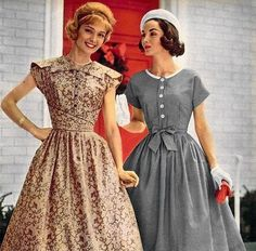 If I knew how to sew, I'd make me these: 1950s day dresses #vintage #fashion