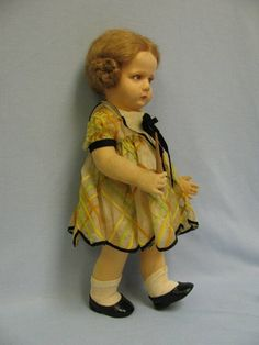 "16"" 1928 Lenci felt doll Italy # LA PROFESORA Original BOX & Teaching Baton"