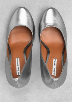 & Other Stories silver heels