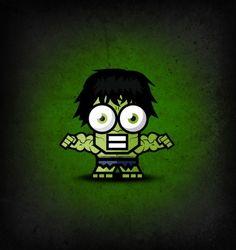 ahmad kushha is famous for drawing super heroes with big eyes (hulk) Comic Books Art, Comic Art, Hulk Superhero, Superman, Batman, Horror, Kawaii, Cute Chibi, Incredible Hulk