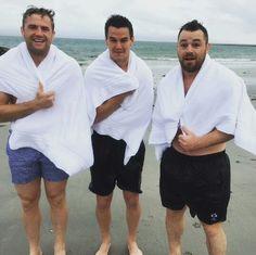 Jamie Heaslip, Johnny Sexton, Cian Healy. Ireland Rugby.