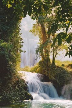 Waterfall Monasterio de Piedra Zaragoza Spain Travel Poster 24x36