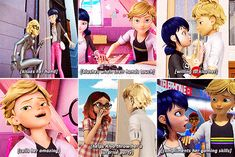 I DARE ANYONE  TO TELL ME THAT HE ISNT IN LOVE WITH HER! I DARE YA Miraclous Ladybug, Ladybug Comics, Miraculous Ladybug Funny, Agreste, Comics Love, Disney, Bugs, Amazing, Blind